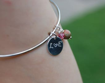 Lover's Initials Charm for Personalizing - Great Anniversary or Bridal Gift