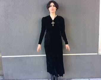 30's Silk Velvet dress
