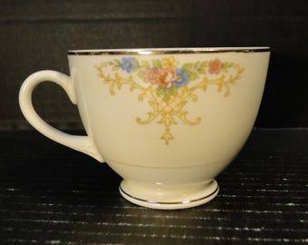 Homer Laughlin Eggshell Nautilus Rochelle Teacup EXCELLENT!