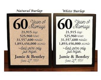 60th Wedding Anniversary | 60 Year Wedding Anniversary | 60th Wedding Anniversary Gift | 60 Years Together |  sixty Anniversary Gift