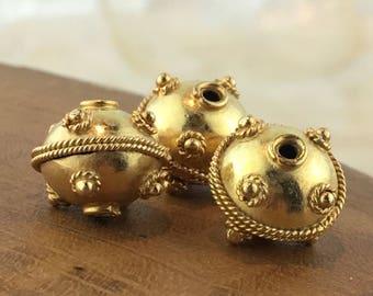 Bali Handmade 24K Gold Vermeil Round Bead