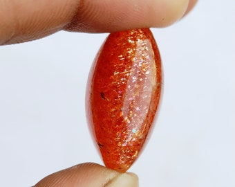 Warm sell 30.5ct Sunstone Natural Gemstone Super Quality AAA+++  Cabochon , Smooth, Marquise Shape, 30x14x10mm Size, AM258