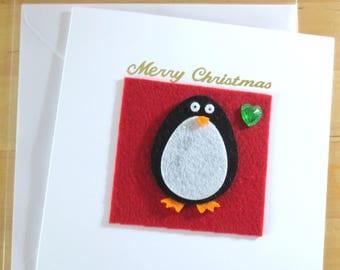 Felt  Animal, Christmas Cards, Animal Christmas cards, Children's Christmas Cards, Christmas cards handmade, Handmade christmas cards, xmas