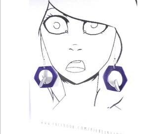 Earrings in 3D (clay)