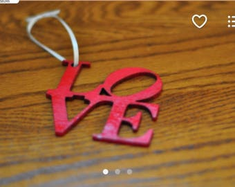 UNPAINTED love ornament