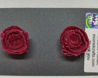 Red Jean Rose Post Earrings