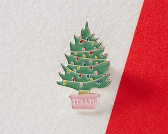 It's Lit Christmas Tree Enamel Pin // Christmas Pin //