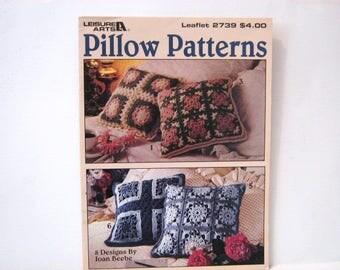 Vintage Crochet Pillow Pattern Book, Crochet Pillow Patterns, Granny Square Pillows, Granny Square Simple Pillow Patterns, Crochet Gift