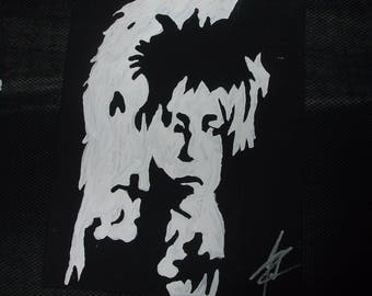 LABYRINTH DAVID BOWIE hand mande one of a kind 8x10 art painting on canvas jim hensen muppets