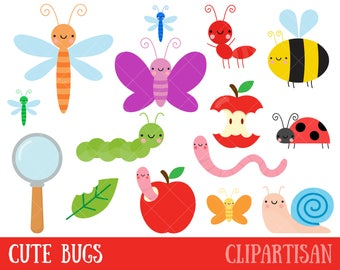 Bug Clipart / Cute Bugs Clipart | Insect Clipart