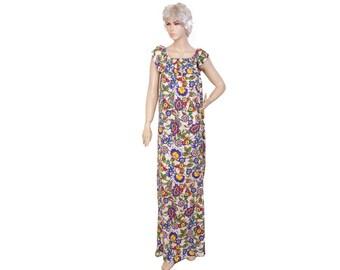 Loose maxi casual  beach resort dress , dragonfly patterned  dress ,beach dress,deep red.