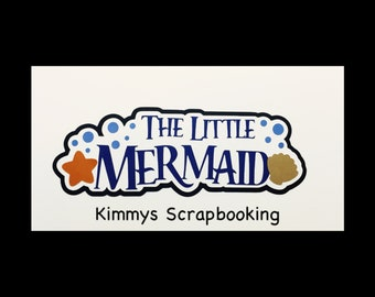 The little mermaid  Title premade paper piecing scrapbook Free shipping!!!