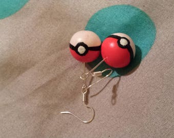 Pokeball pokemon pokemon pokeball earrings catch them all