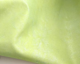 Light Green Leather / Metallic Green Leather / Green Lambskin / Green Lambskin / Green Metallic Leather / Green Leather Hide
