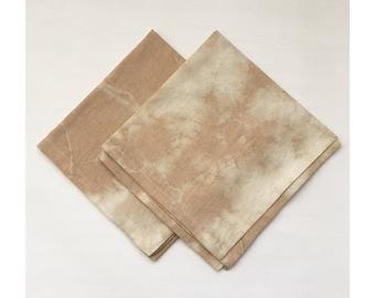 Set of 2 Tea Dyed Linen Napkins