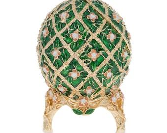 "1907 Rose Trellis Faberge Egg 3.25"""
