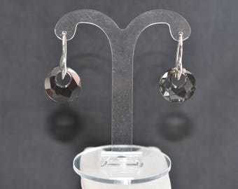 Swarovski Crystal Satin 925 Sterling Silver and Crystal Earrings