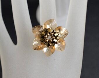 Swarovski crystal bracelet golden shadow and crystal gold 2x