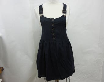Womens Black Overall Jumper Size Small