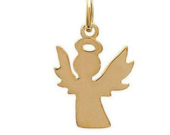 18mm plated Angel pendant gold