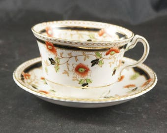 Melba Fine Bone China Cup and Saucer Flowers