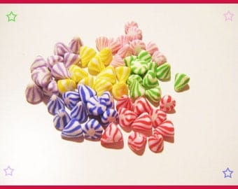 ♥ 60 miniature berlingots Fimo polymer clay for jar ♥
