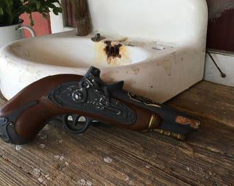 Pistol Shaped Decanter, Man Cave,