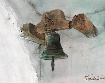Krupa Monastery Bell, Manastir Krupa zvono, Serbian Monastery, Srpski manastir (print)