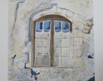 An old house window