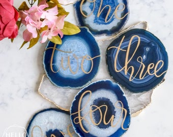 Agate Table Numbers | Etsy