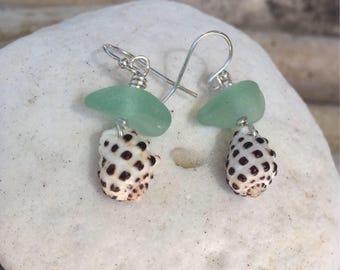 Drupe Shell Earrings//Sterling Silver