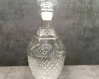 Liquor Decanter, Vintage Decanter, Vintage, 1960s, Liquor Bottle, Barware, Mad Men, Glass Decanter, Liquor, Vintage Mid-Century Barware