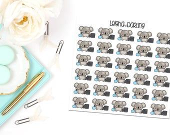 Trash Koala Planner Stickers