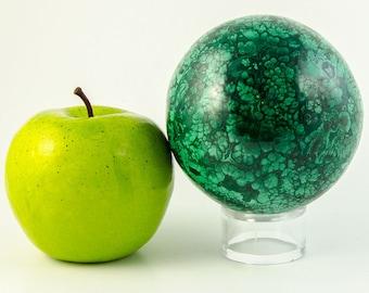 Malachite Crystal Sphere (Congo, #9191) 2.9 pounds