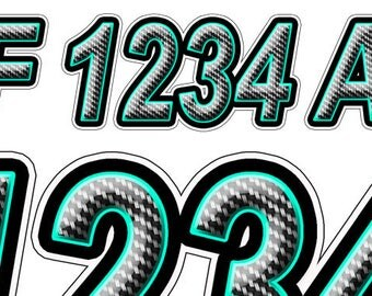 Boat Registration Numbers And Letters Decals Names And Custom Text - Custom boat numbers