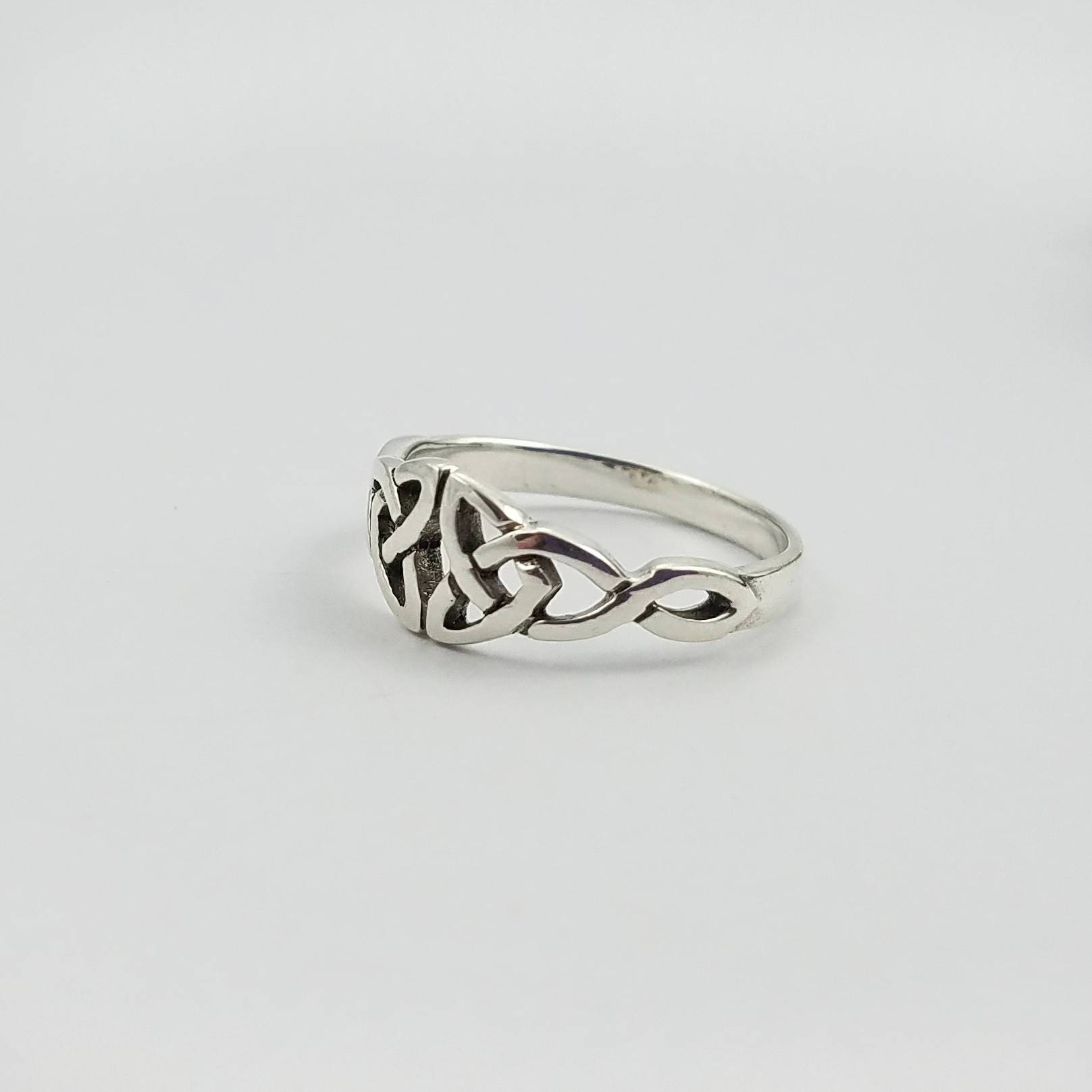 Celtic Ring~Silver Celtic Double Trinity Knot Ring~Knotted Ring ...