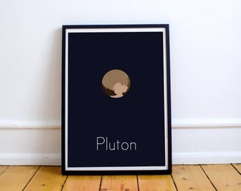 Minimalist poster - Pluto, the dwarf planet