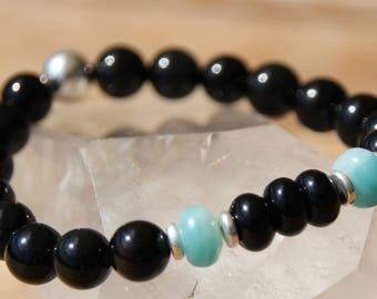 tourmaline and amazonite bracelet