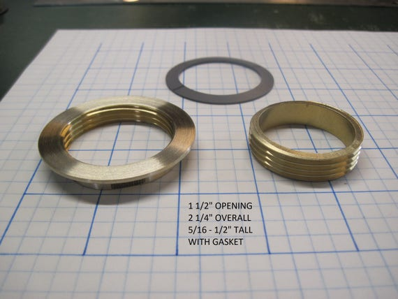 "Threaded Brass Inserts 1 1/2"" Opening"