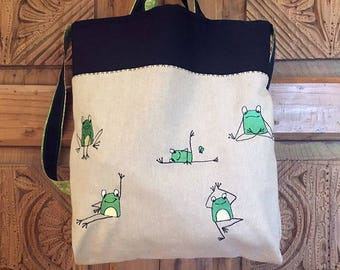"BAG ""YOGA FROG"" - Borsa Rane in pose Yoga"