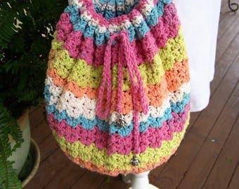 Rainbow Slouchy Bag