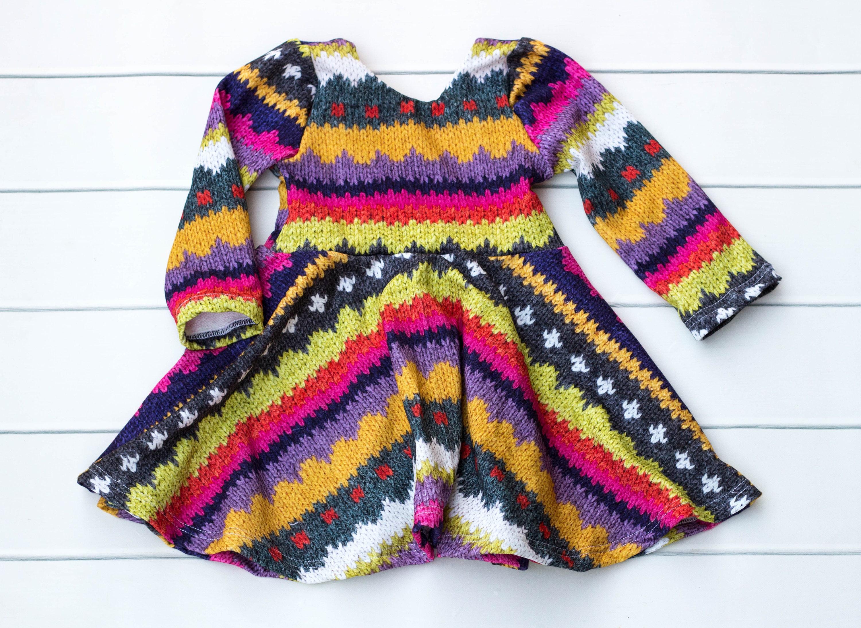 Baby Toddler Girl Long Sleeve Dress Fall Winter Girl Dress French