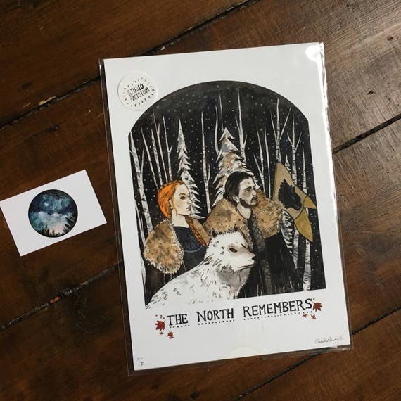 Game of Thrones 'The North Remembers' Print