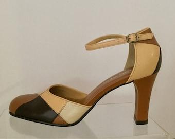 Vintage Nine West Color Block Shoes