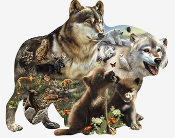 Wolf Pack Nature Lover Novelty Sign | Indoor/Outdoor | Funny Home Decor for Garages, Living Rooms, Bedroom, Offices | SignMission