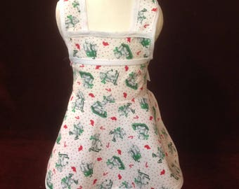 Holiday Dress Apron - 18 inche Doll