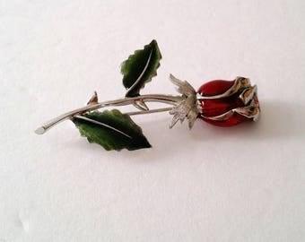 Vintage Liz Claiborne Rose Flower Brooch