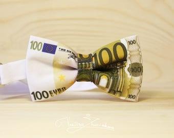 100 Euro Bow tie - Bowtie