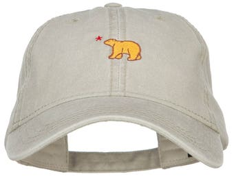 Mini Cali Bear Embroidered Washed Cap