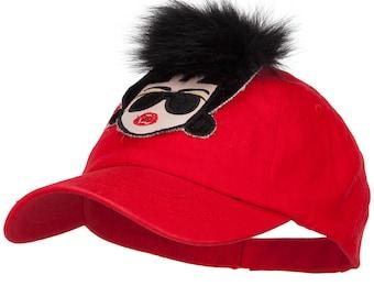 Fur Hair Lady Baseball Cap